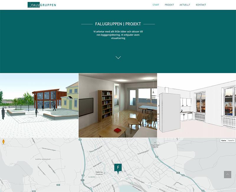Responsive webbplats för Falugruppen Arkitektkontor