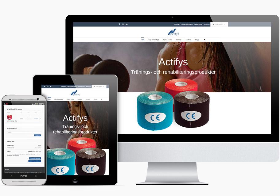 Actifys - En webbshop från Mixvision