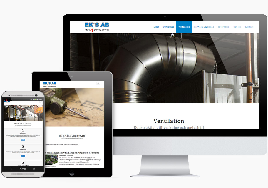 Ny hemsida Eks Plåt o Vent - Mixvision